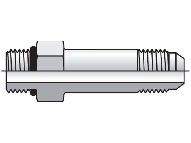 Long Straight Thread Connector - 37 Degree Flare / SAE-ORB, FF5OX Series (PARKER HANNIFIN)