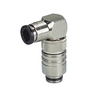 for Mold Cooling, Mold Temperature Control Fitting, Stop Valve Built-in, Elbow with One-Touch Fitting, Plug