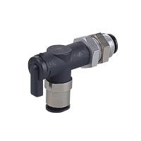 Shut-off Valve, Ball Valve 10 Series, Bulkhead Union Elbow (Nihon Pisco)