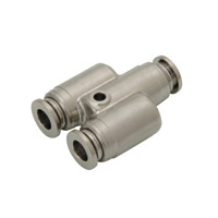 for Sputtering Resistance, Tube Fitting Brass, Union Y, No Cover