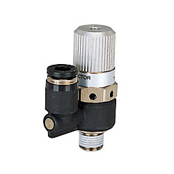 Single Unit Type: Direct attachment electromagnetic valve, straight type, open atmospheric system
