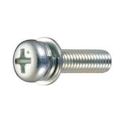 Cross Recessed Pan Head Screw, P=4 (SW + JIS Small Flat W), for Thin Plates