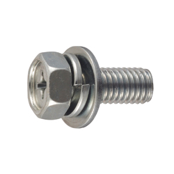 Phillips Pitac Upset Screw for Thin Plates, P = 3 (SW+JIS Flat W)