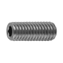 Hexagon Socket Set Screw, Indented Tip, by Ansco (Sunco)