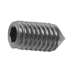Hexagon Socket Set Screw, Pointed Tip, by Ansco