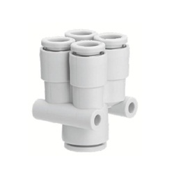 "Different-Diameter Double Union ""Y"" Fitting KQ2UD One-Touch Pipe Fitting"