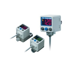 2-Color Display High-Precision Digital Pressure Switch ZSE40A(F)/ISE40A Series (SMC)