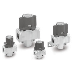 Conforming - OSHA Standard, Pressure Relief 3-Port Valve (Single Action) With Locking Holes VHS20/30/40/50 Series (SMC)