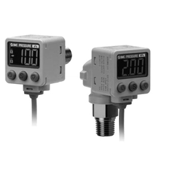 2-Color Display Digital Pressure Switch For General Fluids ZSE80/ISE80 Series (SMC)