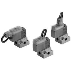 3-Port Solenoid Valve, Direct Operated, Rubber Seal, V100 Series (SMC)