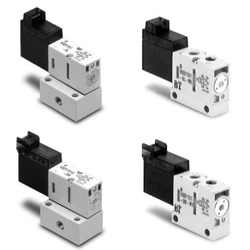 4Port Solenoid Valve Direct Operated Poppet Type VQD1000 Series (SMC)