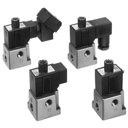 3Port Solenoid Valve Direct Operated Poppet Type VT317 Series (SMC)
