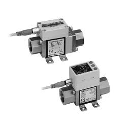 3-Color Display Digital Flow Switch For Water PF3W Series (SMC)