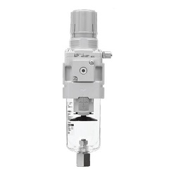 Filter Regulator Filter Regulator With Backflow Function, Low Dust Generation, 10-/20-/21-AW-B, AW*K-B Series (SMC)