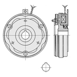 Thin-type series clutch without hub (Sinfonia Technology)