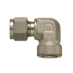 SUS316 Stainless-Steel Double Ferrule System Female Elbow Connector (Taper Screw Type)