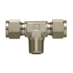 SUS316 Stainless Steel Double Ferrule Fitting Male Branch Tee