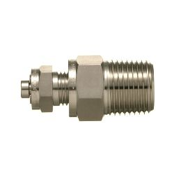 OD Tube Fittings Double Ferrule Threaded Male Connector Stainless Steel SS304