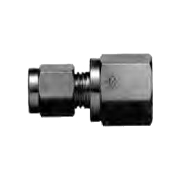 Copper Tubing Double Ferrule Fittings, Female Connector (Taper Treaded Type)