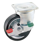 Swivel Casters for Heavy Loads with Stopper, K-100HBS