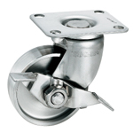 Stainless Steel Pressed Swivel Caster with Stopper K-1304GS