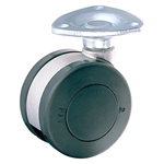 Dual Wheel Free-Swivel Caster without Stopper, K-200G