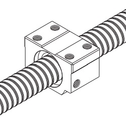 Rolling Ball Screw, No Preloading Type (Nut Single Unit) BNT