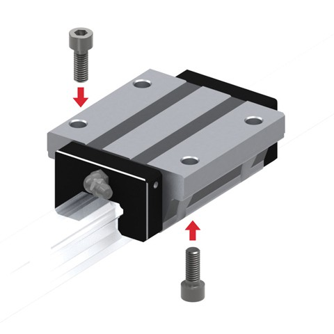 Caged Ball Linear Guide (Block Only) - Standard Grade, Interchangeable, SHS Series (THK)