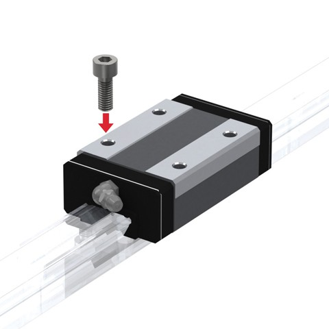 Radial Linear Guide (Block Only) - Interchangeable, SR Series (THK)