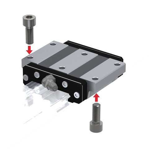 Wide Rail Linear Guide (Block Only) - Interchangeable, HRW Series (THK)