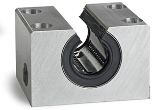 Linear Bushings with Pillow Blocks - Open Self-Aligning and Super Smart