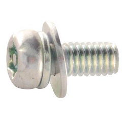 6-Lobe Pan Head Set Screw (Trivalent Chromate/Round with Washers)