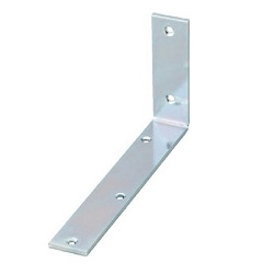 Bright Chromate Wide Shelf Bracket (Steel)