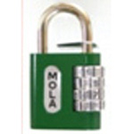 Square Character Combination Lock, VA (Wakisangyo)