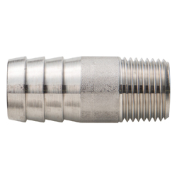 Stainless Steel Screw-in Tube Fitting Pipe Socket with Hose Nipple Round