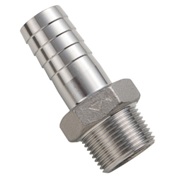 Tube Fitting Hose Nipple with Stainless Steel Thread