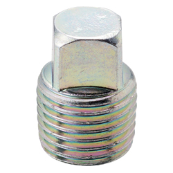 Square Plug Pipe Fitting - Male, Steel (Yodoshi)