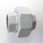 Hex Union Pipe Fitting - Female/Female, Epoxy-Coated Steel (Yodoshi)