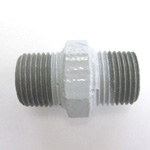 Hex Nipple Pipe Fitting - Male, Epoxy-Coated Steel (Yodoshi)
