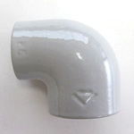 90 Degree Adapter Elbow Pipe Fitting - Female/Female, Epoxy-Coated Steel (Yodoshi)