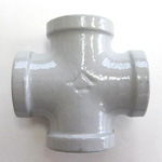 Cross Pipe Fitting - Female, Epoxy-Coated Steel (Yodoshi)