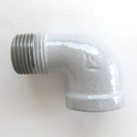 90 Degree Adapter Elbow Pipe Fitting - Female/Male, Epoxy-Coated Steel (Yodoshi)
