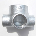 Adapter Cross Outlet Pipe Fitting for Fire-Protection - Female, Steel (Yodoshi)