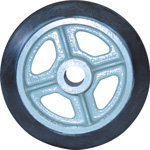 Medium Duty Rubber Wheel (SA) without Bearings