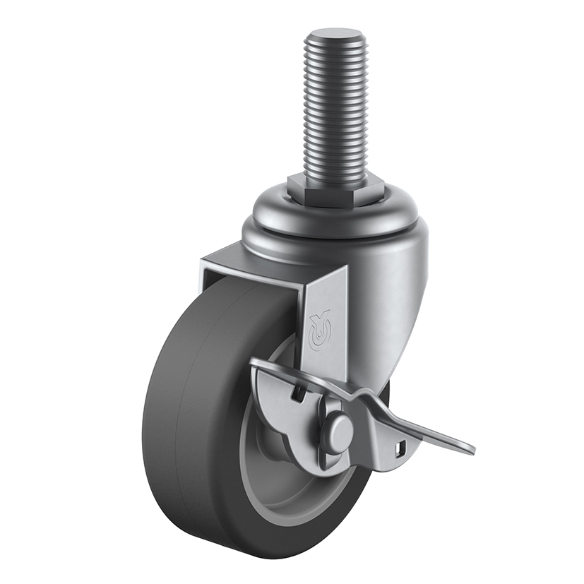 SUS-ST-S Swivel Caster Screw-in Type (with Stopper)