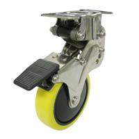NPR Type Fixed Wheel Plate Type and Anti-Static Urethane Wheels (with Stopper)
