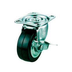G-S Model Swivel Wheel (Single Bearing) Plate Type (With Stopper)