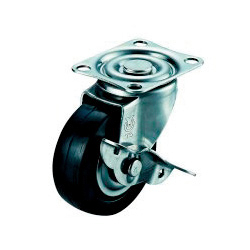 SUS-SG-S Swivel Caster, Plate Type (with Stopper)