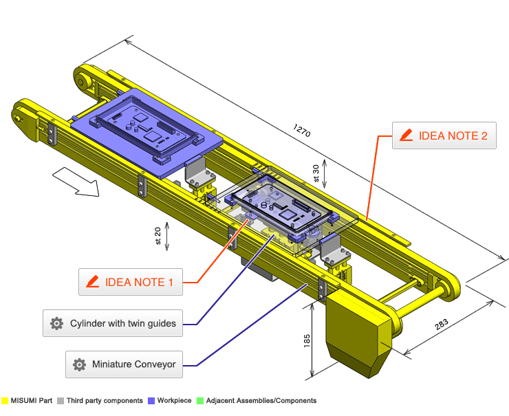 No 000038 Positioning And Stopper Mechanism For Pallet