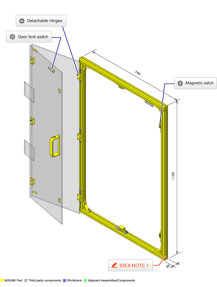 No 000102 Extrusion Folding Door With Sensor Switch